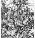 DURER THE FOUR HORSEMEN OF THE APOCALYPSE,1498, WOODCUT