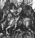 DURER THE KNIGHT, DEATH AND THE DEVIL,1513, COPPER ENGRAVING