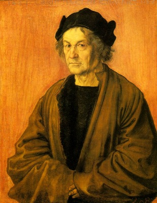 DURER PORTRAIT OF DURERS FATHER AT 70,1497, NGLONDON