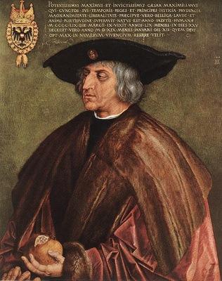 DURER PORTRAIT OF EMPEROR MAXIMILIAN I,1518, KUNSTHISTORISCH