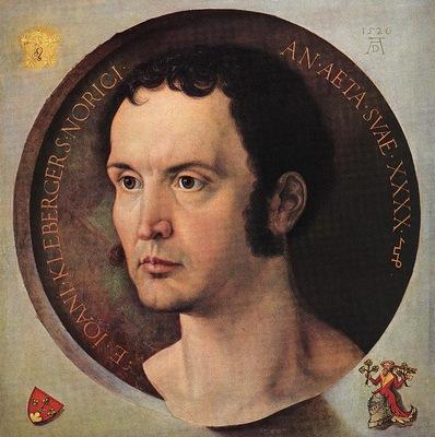 DURER PORTRAIT OF JOHANN KLEBERGER,1526, KUNSTHISTORISCHES M
