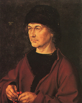 DURER PORTRAIT OF THE ARTISTS FATHER,1490, UFFIZI