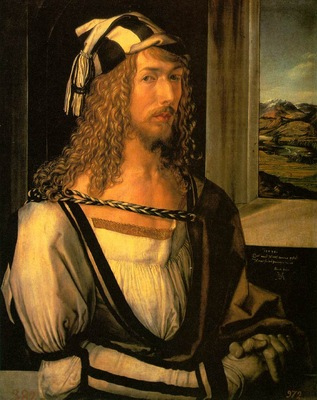 DURER SELF PORTRAIT AT 26,1498, PRADO