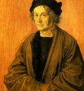 DURER PORTRAIT OF DURERS FATHER AT 70,1497, NGLONDON