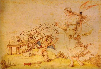 Albrecht Durer Cupid the Honey Thief
