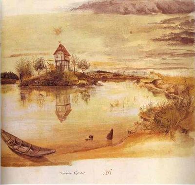 Albrecht Durer House by a Pond