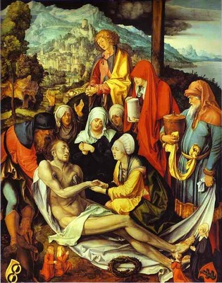 Albrecht Durer Lamentation for Christ
