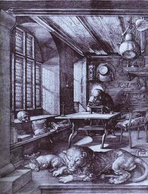 Albrecht Durer St  Jerome in His Study