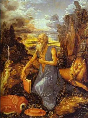 Albrecht Durer St  Jerome in the Wilderness