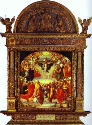 Albrecht Durer The Adoration of the Holy Trinity