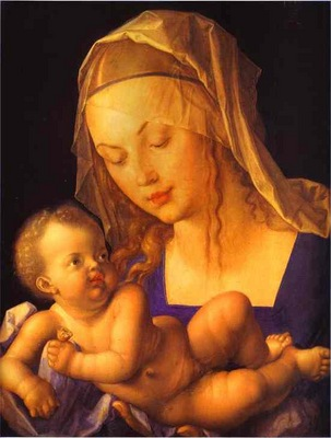 Albrecht Durer Virgin and Child with Half a Pear