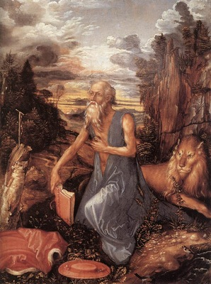 DURER Albrecht St Jerome in the Wilderness