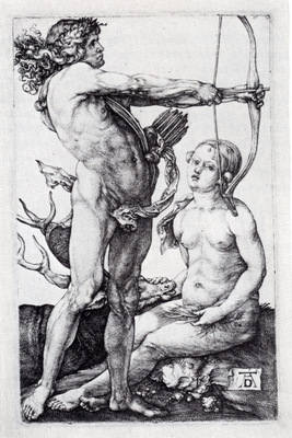 Durer Apollo And Diana