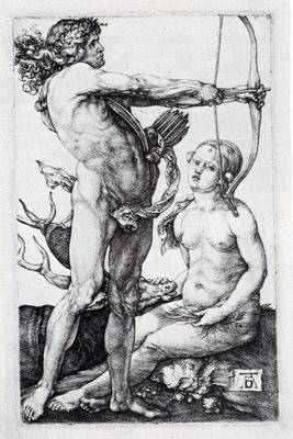 Durer Apollo And Diana