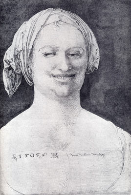 durer laughing peasant woman