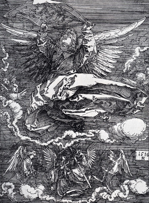 Durer Sudarium Spread Out By An Angel