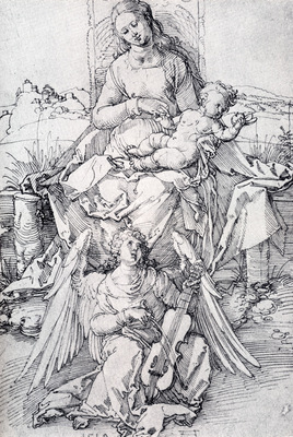 Durer The Madonna And Child With A Music Making Angel