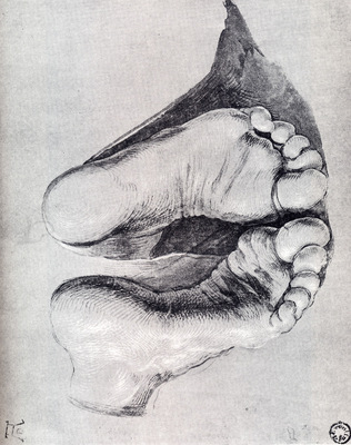 Durer feet Of A Kneeling Man