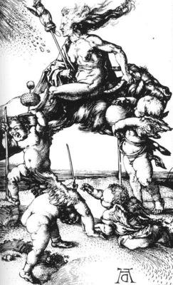 Witch Riding a Ram Backwards