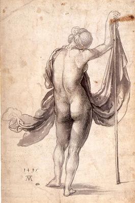 ls Durero 21 Mujer desnuda vista de espaldas