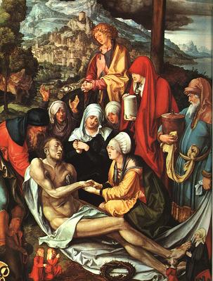 DURER LAMENTATION OVER THE DEAD CHRIST,1500, ALTE PINAKOTHEK