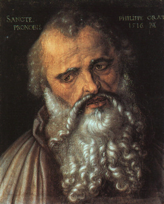 DURER SAINT PHILIP THE APOSTLE,1516, UFFIZI