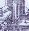 Albrecht Durer Draughtsman Drawing a Recumbent Woman