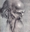 Durer Head Of An Apostle Looking Downward