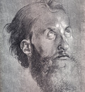 Durer Head Of An Apostle Looking Upward