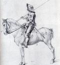 Durer Man In Armor On Horseback