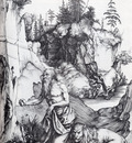 Durer St Jerome Penitent In The Wilderness