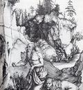Durer St Jerome Penitent In The Wilderness