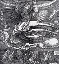 Durer Sudarium Spread Out By An Angel