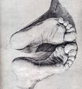 Durer feet Of A Kneeling Man