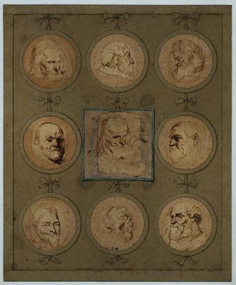 Dyck Anthony van Sheet of Studies