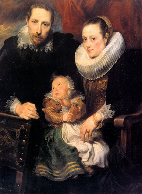 Dyck van Antoon Family portrait Sun