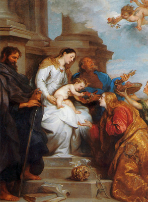 Dyck van Antoon Maria and child and Saints Sun