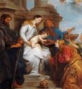 Dyck van Antoon Maria and child and Saints Sun