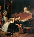 Dyck van Antoon Rubens mourning his wife Sun