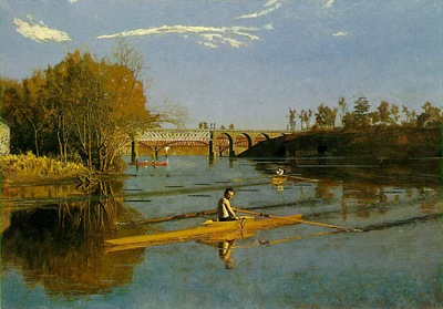 EAKINS MAX SCHMITT IN A SINGLE SCULL MOMA NY