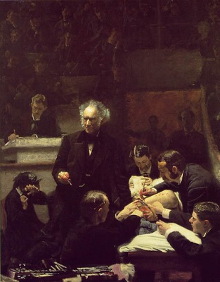 EAKINS THE GROSS CLINIC 1875 JEFFERSON MEDICAL COLLEGE OF TH