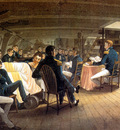 MPA Augustus Earle Divine Service on board a British Frigate, H M S  Hyperion, 1820 sqs