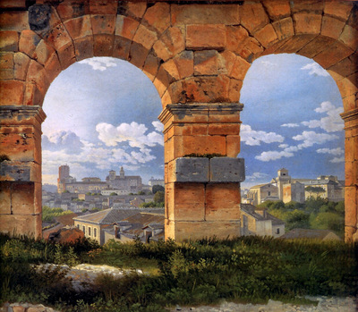 Eckersberg Christofer View through three arches of the Colos