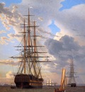 Eckersberg Christofer Russian ship of the line Asow Sun