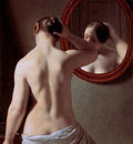 Eckersberg Christofer Woman standing in front of a mirror Su