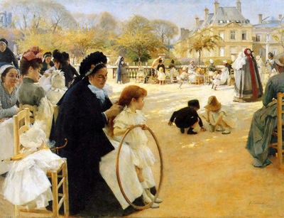 Edelfelt Albert In the Jardin de Luxembourg Sun