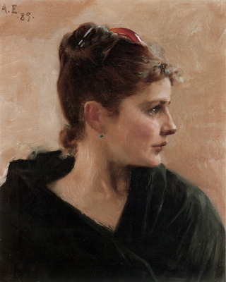 Edelfelt Albert Portrait of a Young Lady