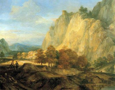 Eeckhout van den Gerbrand Mountainous landscape Sun