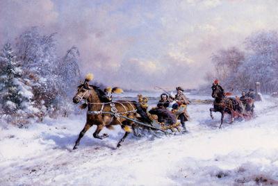 Eerelman Otto Horses and Snow sledge Sun