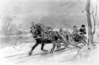 eerelman otto study for sledge ride